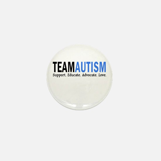 Team Autism (Blue) Mini Button