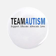 """Team Autism (Blue) 3.5"""" Button"""