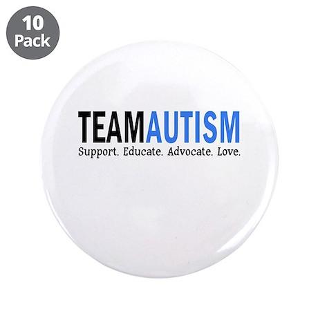 "Team Autism (Blue) 3.5"" Button (10 pack)"