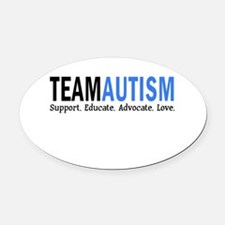 Team Autism (Blue) Oval Car Magnet