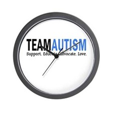 Team Autism (Blue) Wall Clock