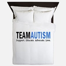 Team Autism (Blue) Queen Duvet