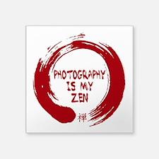 Photography is my Zen-1-red Sticker