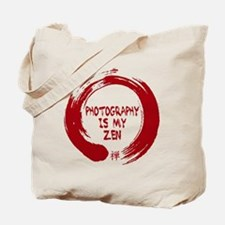 Photography is my Zen-1-red Tote Bag