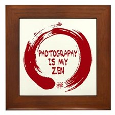 Photography is my Zen-1-red Framed Tile