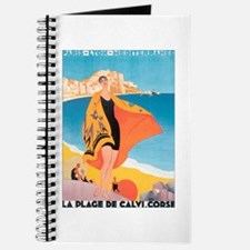 Plage de Calvi Retro Travel P Journal