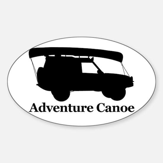 Adventure Canoe Rectangle Decal