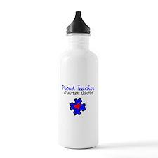 Proud Teacher of Autistic Children Water Bottle