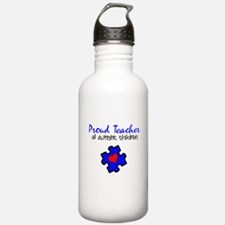 Proud Teacher of Autistic Children Water Bottle