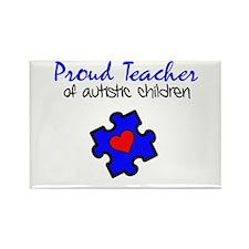 Proud Teacher of Autistic Children Rectangle Magne