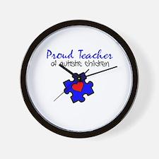 Proud Teacher of Autistic Children Wall Clock