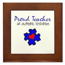 Proud Teacher of Autistic Children Framed Tile