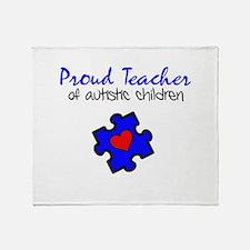 Proud Teacher of Autistic Children Throw Blanket