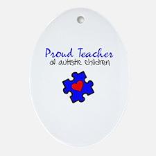 Proud Teacher of Autistic Children Ornament (Oval)