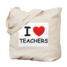 I love teachers Tote Bag