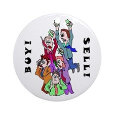Buy Sell Brokers Ornament (Round)