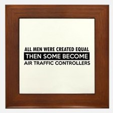 Air Traffic Controllers Designs Framed Tile