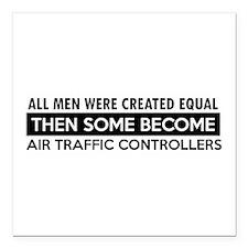 Air Traffic Controllers Designs Square Car Magnet