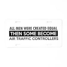 Air Traffic Controllers Designs Aluminum License P