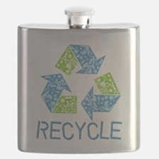Recycle Symbol Flask