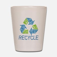 Recycle Symbol Shot Glass