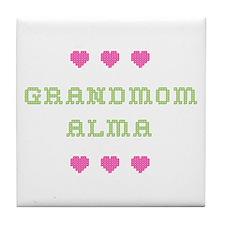 Grandmom Alma Tile Coaster