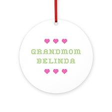 Grandmom Belinda Round Ornament