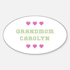 Grandmom Carolyn Oval Decal