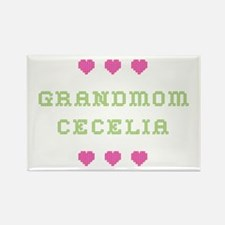 Grandmom Cecelia Rectangle Magnet