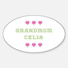 Grandmom Celia Oval Bumper Stickers