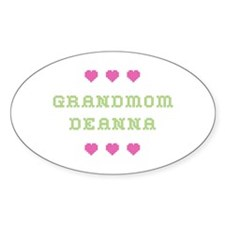 Grandmom Deanna Oval Decal