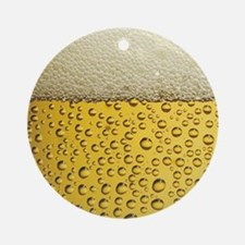 Beer Bubbles Ornament (Round)