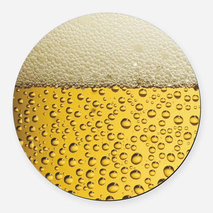 Beer Bubbles Round Car Magnet
