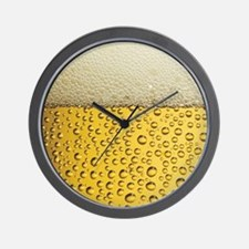 Beer Bubbles Wall Clock