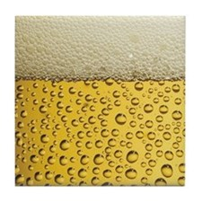 Beer Bubbles Tile Coaster