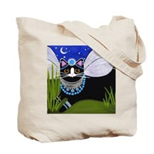 Native American Black Tuxedo Cats TOTE Bag