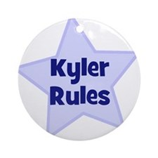 Kyler Rules Ornament (Round)