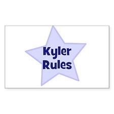 Kyler Rules Rectangle Decal