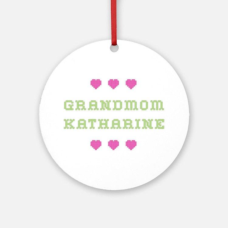 Grandmom Katharine Round Ornament