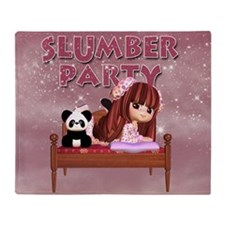 Slumber Party Hostess Gift Throw Blanket