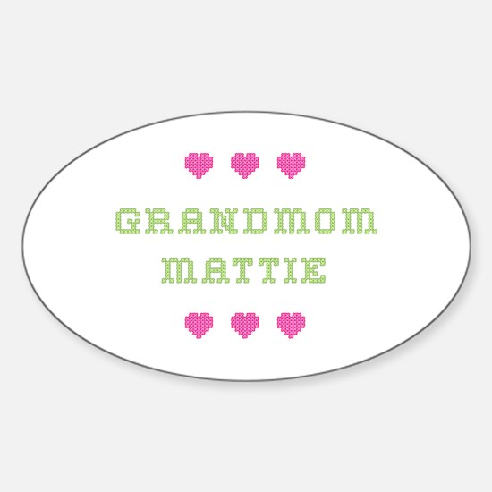 Grandmom Mattie Oval Decal