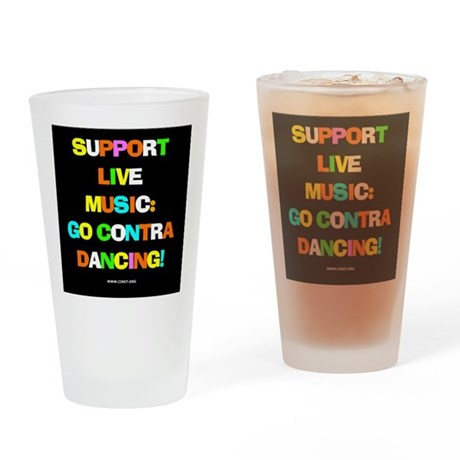 Contra Dance Drinking Glass