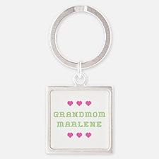 Grandmom Marlene Square Keychain
