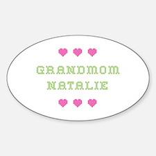 Grandmom Natalie Oval Decal