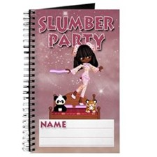 Slumber Party Gift Journal With Cute Girl