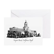 Newport Beach, California Tem Greeting Cards (Pack