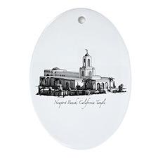 Newport Beach, California Tem Oval Ornament