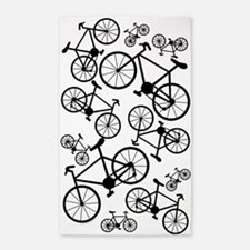 Bicycles Big and Small 3'x5' Area Rug