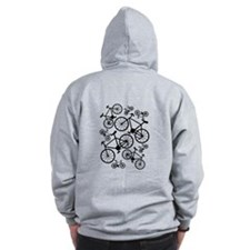 Bicycles Big and Small Zip Hoodie