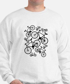 Bicycles Big and Small Sweatshirt